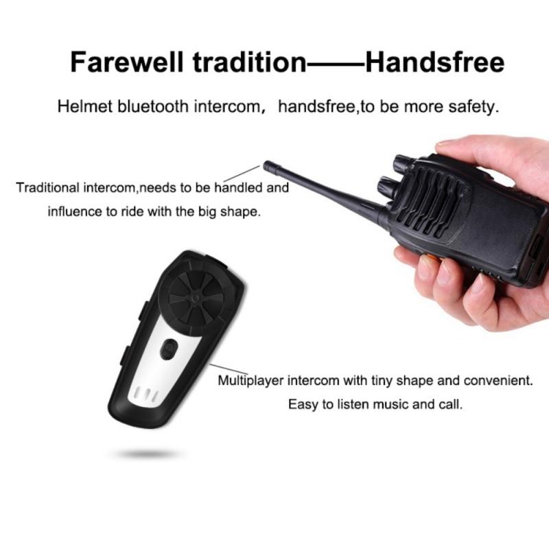 Motorcycle Helmet Interphone Headset Waterproof Wireless Bluetooth Interphone