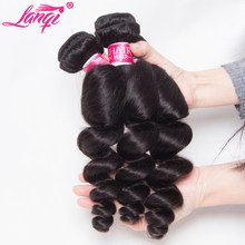 Brazilian loose wave bundles loose wave human hair weave 3 bundles deals lanqi brazilian virgin hair weaving remy hair extension(China)