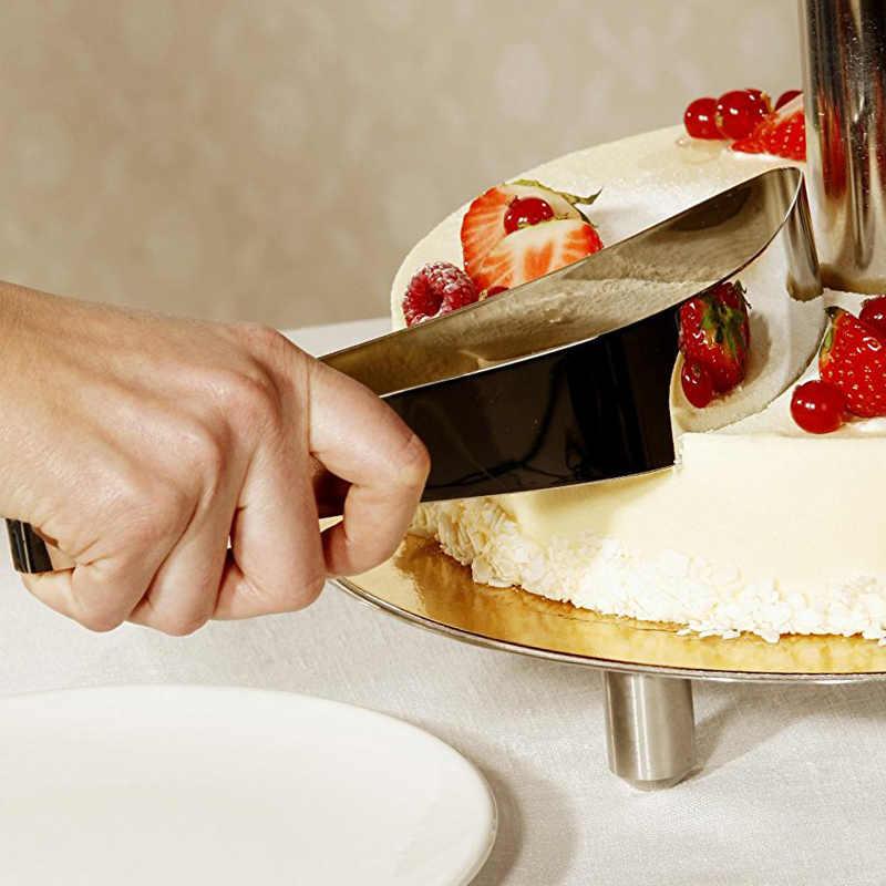 Cortador de servidor de pastel de acero inoxidable divisor de pastel rebanador de cuchillo de Pizza cortadora de Guider para herramientas de pastel de Pizza accesorios de cocina