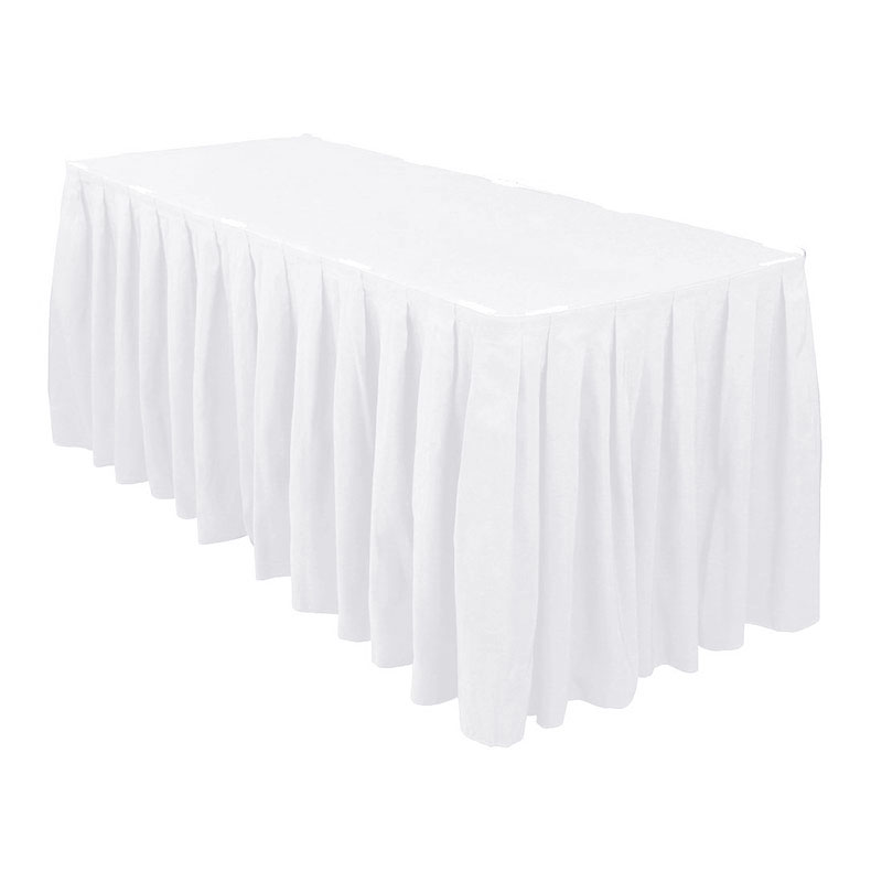 1pcs Quality Ivory Polyester Plain Table Skirting for Weddigs Event Decoration table cloth