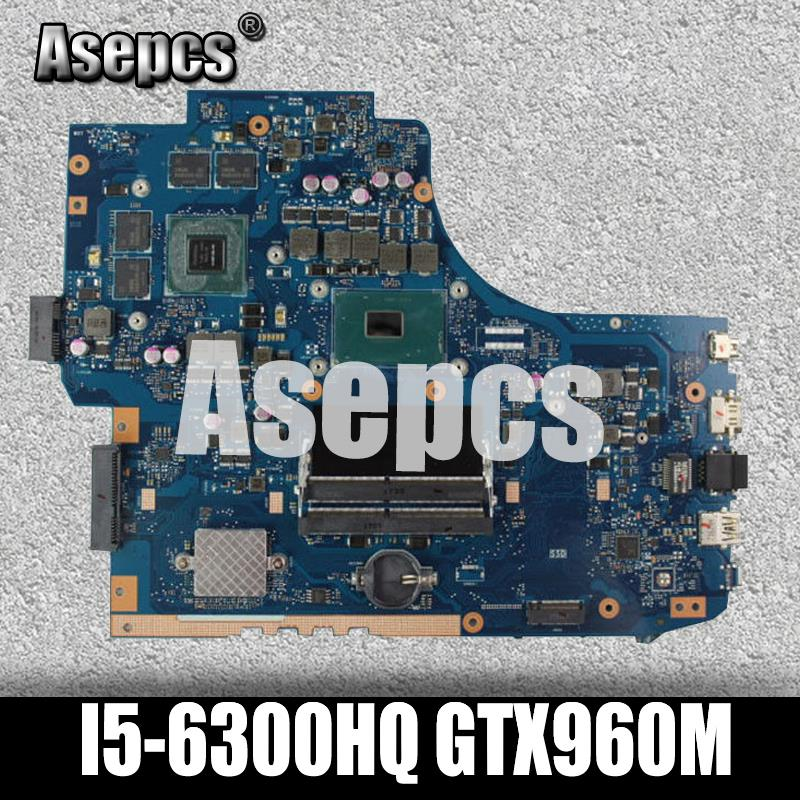 Asepcs GL752VW Laptop Motherboard For ASUS GL752VW GL752V GL752 Test Original Mainboard I5-6300HQ GTX960M