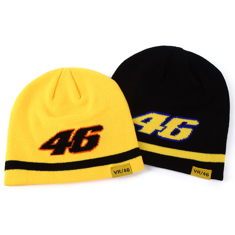 2016 New Design F1 Racing winter hat Car motorcycle Racing MOTO GP VR 46 Rossi Embroidery Sport Hiphop Cotton Beanies Skullies