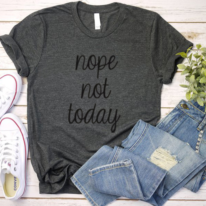 not today women shirts nope aesthetic harajuku shirt vintage 90s punk thanksgiving tops japanese plus size mama funny t 2019 in T Shirts from Women 39 s Clothing
