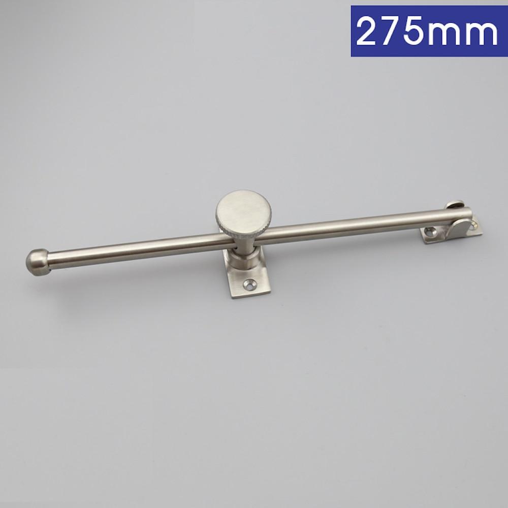 1x Adjustable Wind Brace Bracing Window Support Limiting Stopper Stainless Steel Industrial Wind-proof Rod 275mm
