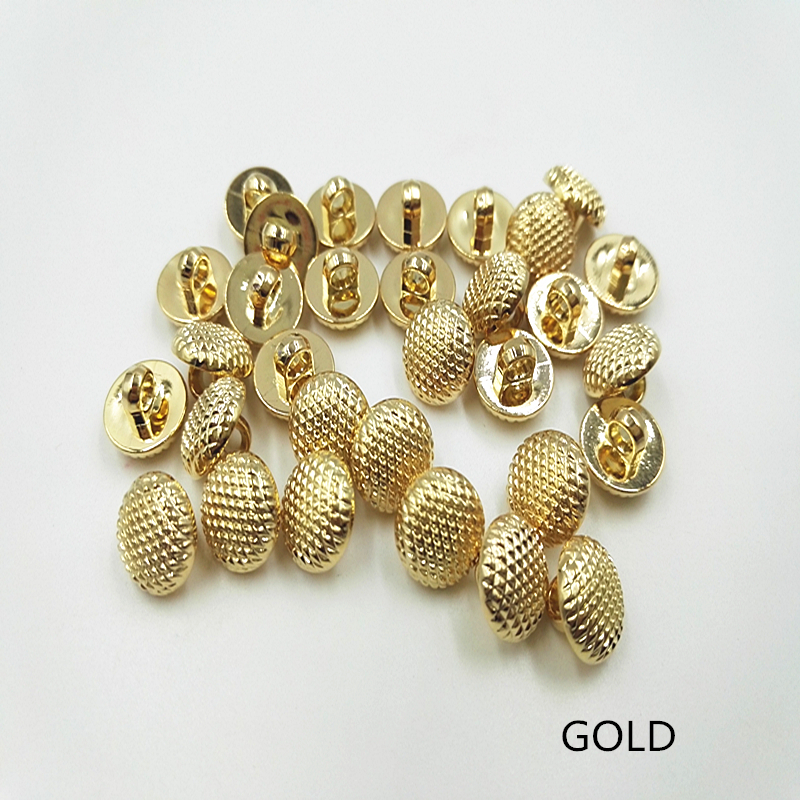 50PCS 11MMSEWING ACCESSORIES PIASTIC BUTTON WOMEN AND MANS SHIRT BUTTON PLATING GOLD BUTTON