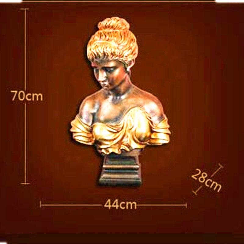 Belle fille personnages occidentaux tête Portraits Statue créative colophonie artisanat café boutique décoration G1327