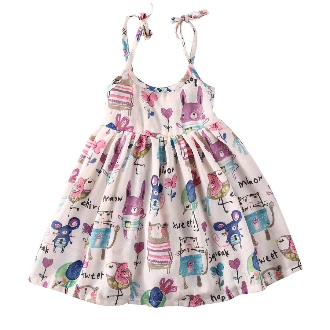 Cute Baby Girl Toddler Tank font b Dress b font Slip Graffiti font b Dress b