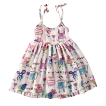 Cute Baby Girl Toddler Tank Dress Slip Graffiti Dress Summer Graffiti Holiday Dress