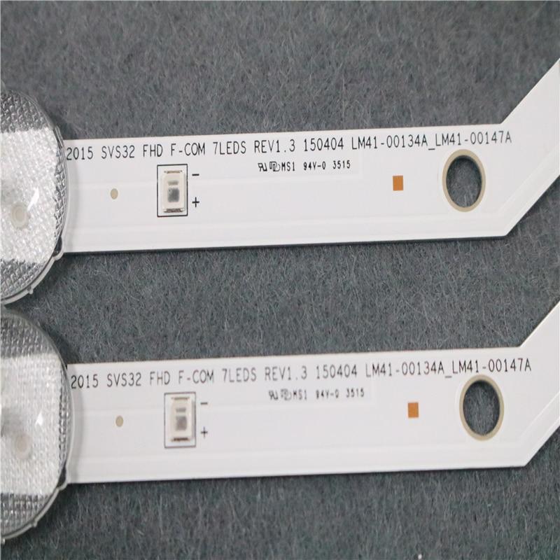 מזגנים קיט המקורי ניו 2 PCS 7LED 620mm LED רצועה עבור סמסונג UE32J5000 BN96-36236A 36235A V5DN-320SM1-R2 2015 SVS32 FHD F-COM LM41-00 (4)
