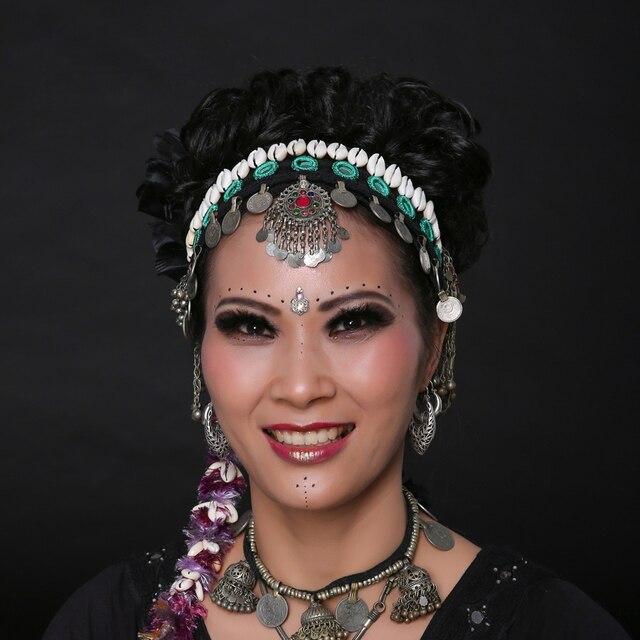 2018 Ats Tribal Belly Dance Headbands Accessories Vintage National Jewelry  Women Headpiece Gypsy Head Chains Dance Headbands f6eee5d91bb