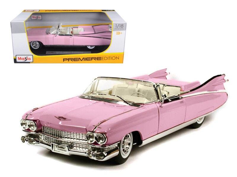 Maisto 1:18 1959 jouet de voiture de course Cadillac ELDORADO BIARRITZ moulé sous pression nouveau dans sa boîte