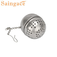 Saingace Stainless Steel Ball Loose Tea Leaf Strainer Herbal Spice Filter Diffuser Free Shipping