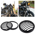 CNC Aluminum Black Headlight Protection And Decoration Grill Cover Fit For 2004-2012 Harley Sportster XL 883 1200