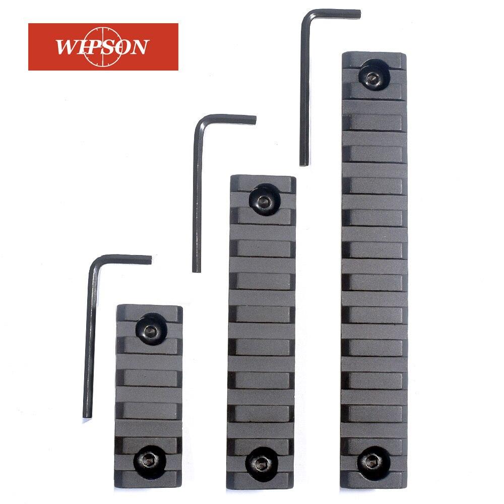 WIPSON Picatinny Weaver Rail Pour KeyMod Handguard Portée Mount Base Accessoires M-Lok En Alliage D'aluminium 5-slot 9 -slot 13-slot