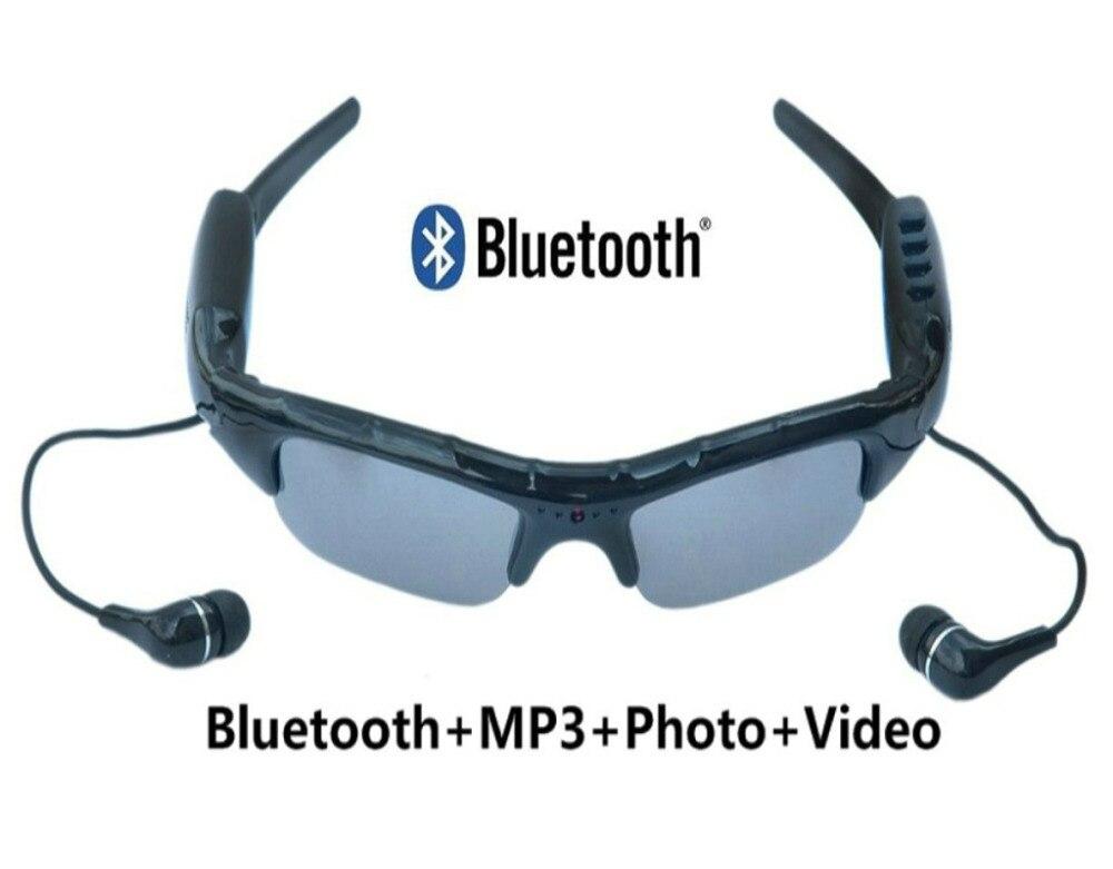 Bluetooth MP3 плеер Фото Видео Солнцезащитные очки камера мини DV видеокамера для спорта на открытом воздухе Мини камеры очки