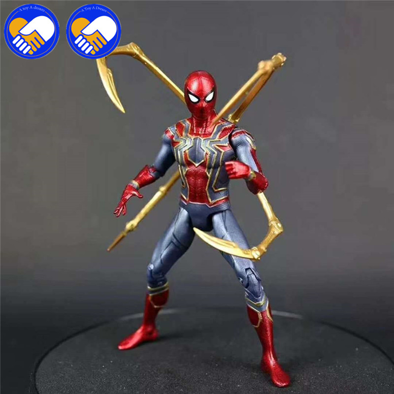 NEW Marvels Avengers Infinity War Iron Spiderman Black Panther PVC Action Figure Spider Man Figure Collectible Model Toy 12 17cm in Action Toy Figures from Toys Hobbies