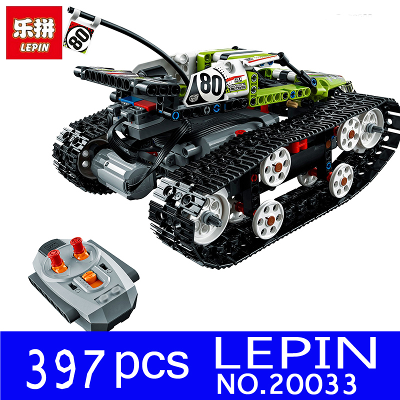 Lepin 20033 Technic Series The RC Track Remote control Race Car Kit Building Blocks Bricks Educational Children Gifts Toys 42065 glow race track bend flex glow in the dark assembly toy 112 160 256 300pcs slot race track 1pc led car puzzle educational toys