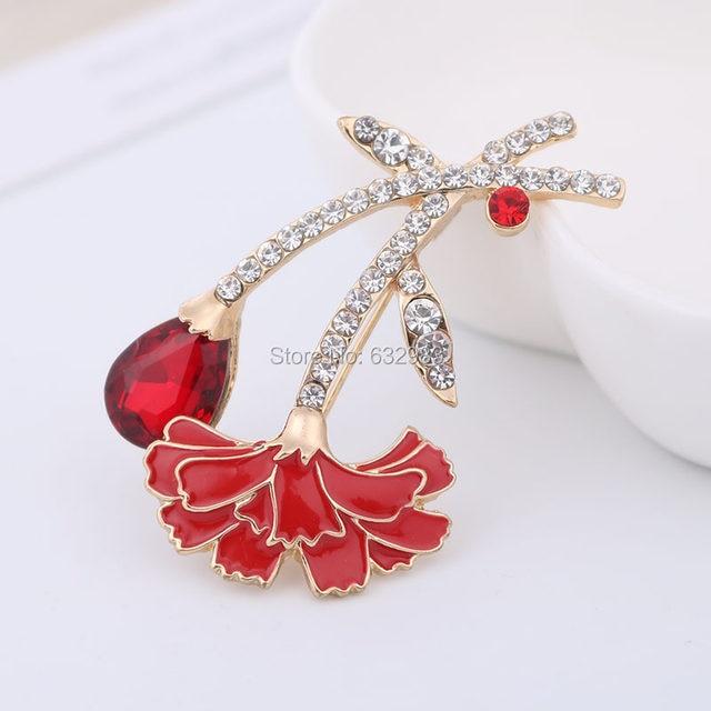 Tienda Online Elegante rojo Clavel Pasadores broche bouquet ...