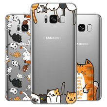 Dreamfox l513 gato bonito macio tpu silicone caso capa para samsung galaxy note s 6 7 8 9 10 edge plus grand prime(China)
