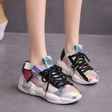 Fashion Sneakers Women Shoes New Vulcanize 2019 Platform Flats Female Chunky Walking
