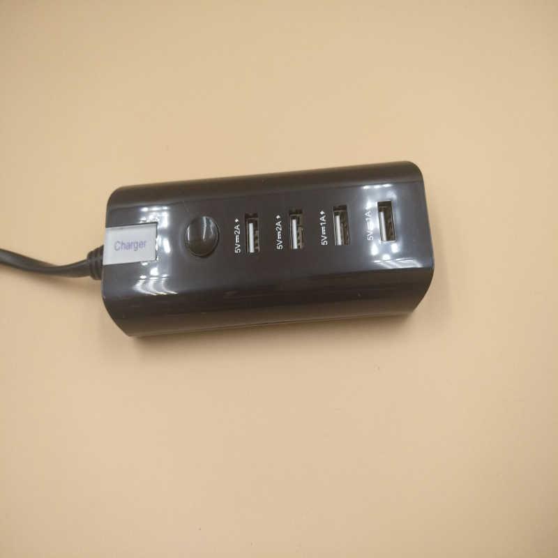 Ue podłącz 4 porty USB do ładowania 5A zasilania AC gniazda ścienne pasek taśmy USB Hub standardowa wtyczka elektryczna w domu