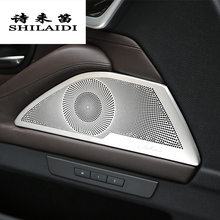 Car styling Door Stereo Speaker decoration Tweeter strips cover Stickers trim For BMW 5 series F10