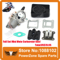 Mini Moto ATV Quad Dirt Pit Pocket Bike 47cc 49cc Two Stroke Carburetor + Air Filter+Mainfold+Reed Valve  parts Free Shipping