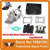 Mini Moto ATV Quad Dirt Pit Pocket Bike 47cc 49cc Zweitakt Vergaser + Luftfilter + Mainfold + Reed ventilteile Kostenloser Versand