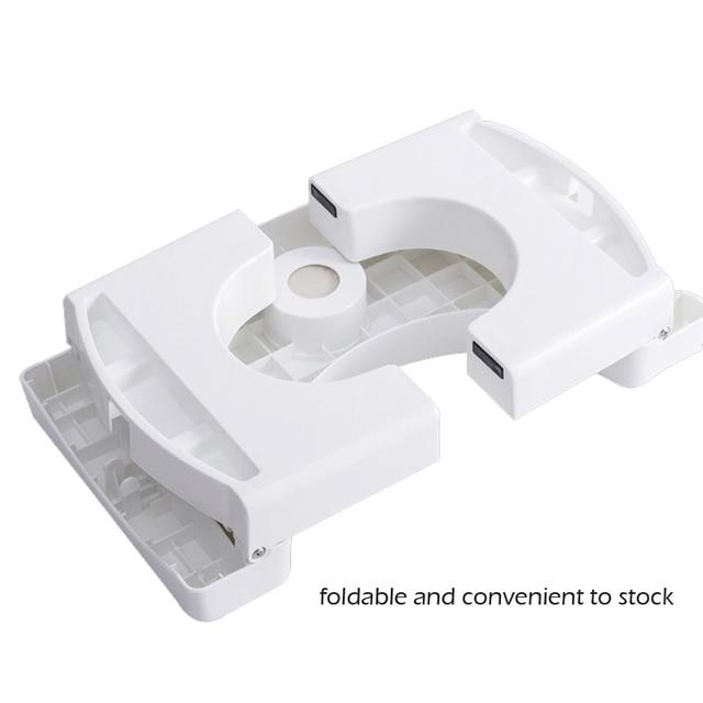 Home Folding Squatting Stool Bathroom Squat Toilet Stool Compact Squatty Potty Stool Portable Step Seat for Home Bathroom Toilet 5