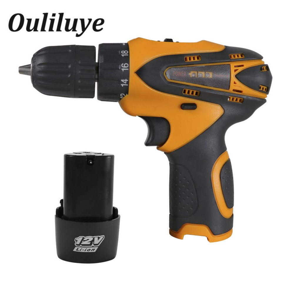 12V Mini Cordless Electric Drill Screwdriver Driver Bit Rechargeable Lithium Battery Wireless Dual Speed Drill Impact Power Tool12V Mini Cordless Electric Drill Screwdriver Driver Bit Rechargeable Lithium Battery Wireless Dual Speed Drill Impact Power Tool