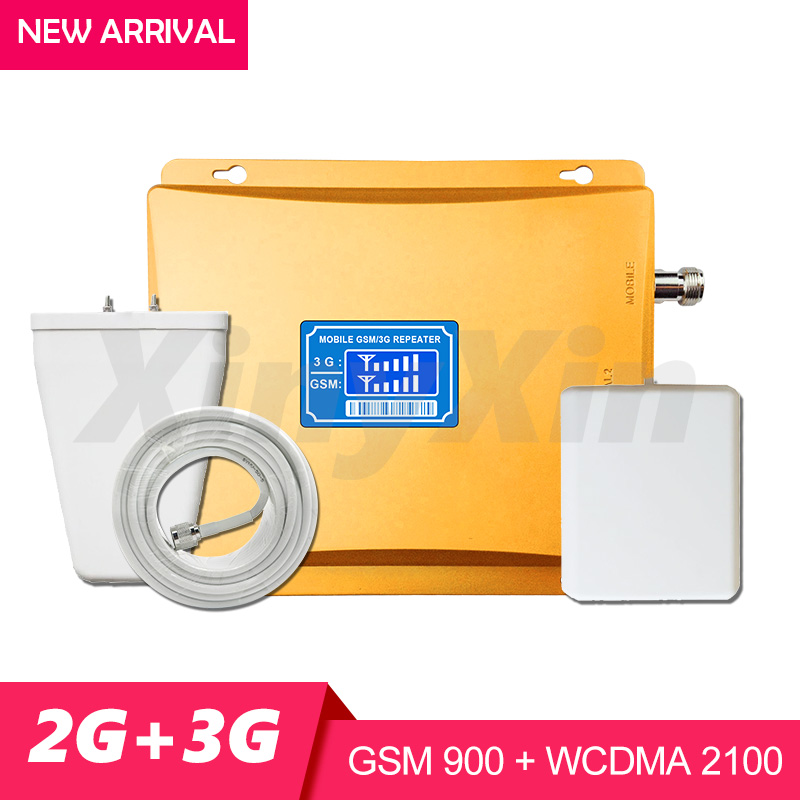 Dual Band Booster 2G GSM 900 3G 2100 Cellular Amplifier Cell Phone Signal Repeater GSM 900 WCDMA UMTS 2100 Signal Booster 70dB