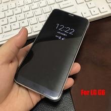 """Быстрый ccover case для lg g6 5.7 """"официальный флип кожаный корпус smart view обложка для lg g6 сенсорный функция"""