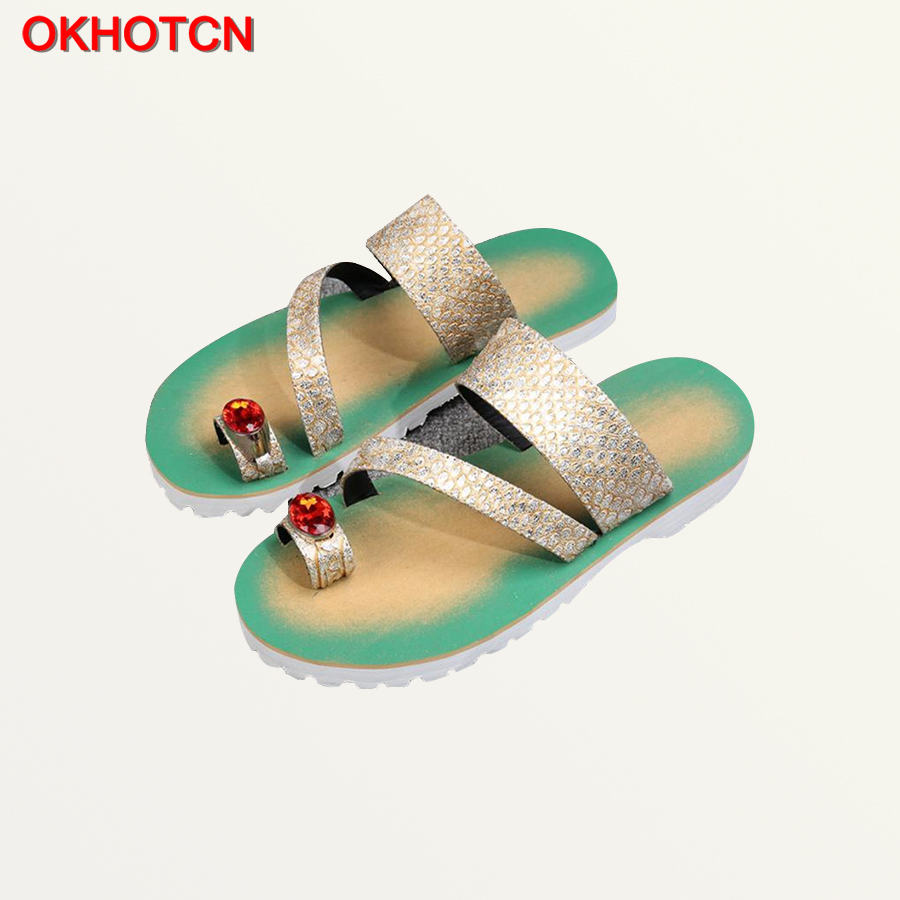 New Crystal Men Summer Sandals Patent Leather Dual Use Beach Shoes Casual Cool Print Men S