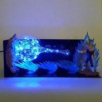 Dragon Ball Z Vegeta Super Saiyan Kamehameha Led Night Light Lamp Dragon Ball Super Majin Vegeta Desk Lamp Bulb DBZ