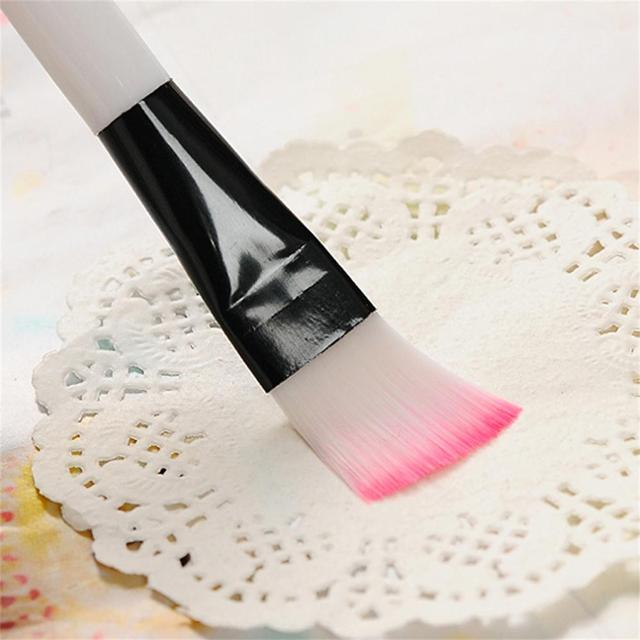 2Pcs New Professional Pink Man Made Easy Wash Fiber Mask Brushes Facial Face Mud Mixing Brush Skin Care Beauty Makeup Tool Hot Makeup Brushes