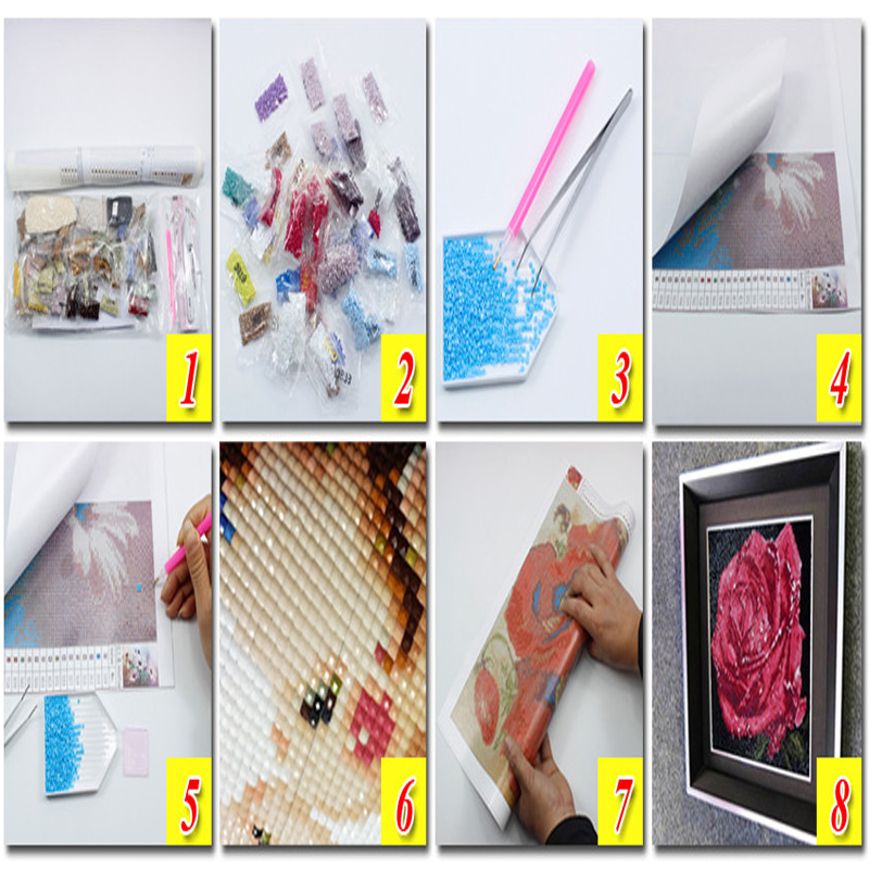 Diamond painting mosaic embroidery Reading the cat full drill square rhinestone kitten crafts Needlework wall paintings stickers in Diamond Painting Cross Stitch from Home Garden