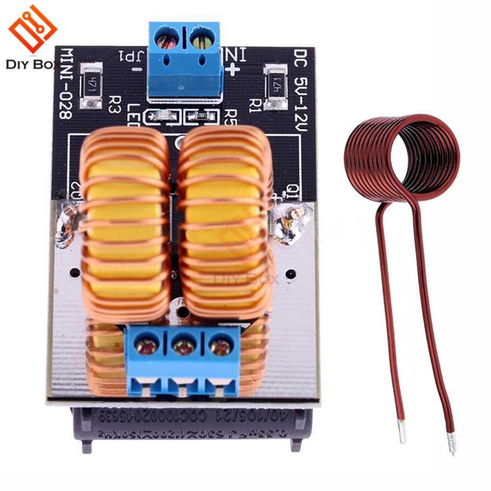 5v-12v ZVS induction heating power supply tesla driver board Jacob/'s ladder