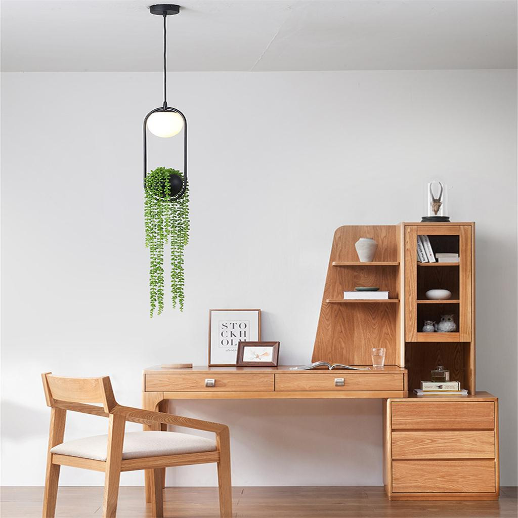 Nordic Plant Chandelier Flower Pot Aisle Restaurant Balcony Sky Garden LED Chand LED Light LED Lamp Accessories Home tool