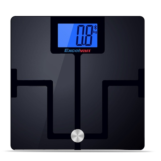 Excelvan 180kg 400lbs Digital Bluetooth Bathroom Body Fat Scale With For Ios Android Devices