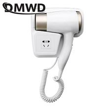 DMWD Hot/Cold Wind Blow Hair Dryer Electric Wall Mount Hairdryers Hotel Bathroom Dry Skin Hanging Brush Air Blower With Stocket