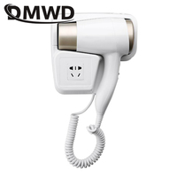 DMWD Hot/Cold Wind Blow Hair Dryer Electric Wall Mount Hairdryers Hotel Bathroom Dry Skin Hanging Wall Air Blowers With Stocket