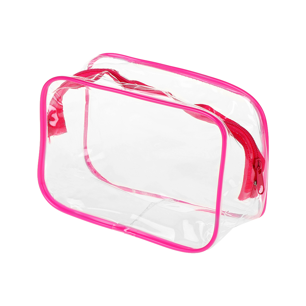 S-L Portable Women Travel PVC Transparent Cosmetic Bags Clear Zipper Makeup Bags Organizer Bath Wash Make Up Tote Handbags Case
