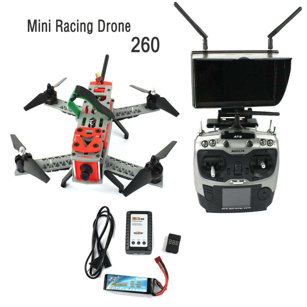 JMT Mini 260 SP Racing F3 DIY Quacopter Kit Full RTF FPV RC Drone 2.4G 9CH 700TVL HD Camera 5.8G Transmission Carry Bag F16051-I