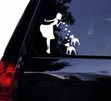 Tshirt Rocket PITS and Double PEARLS 2 PITBULL Dogs Vinyl Car Decal, Laptop Window Wall Sticker (8, White)