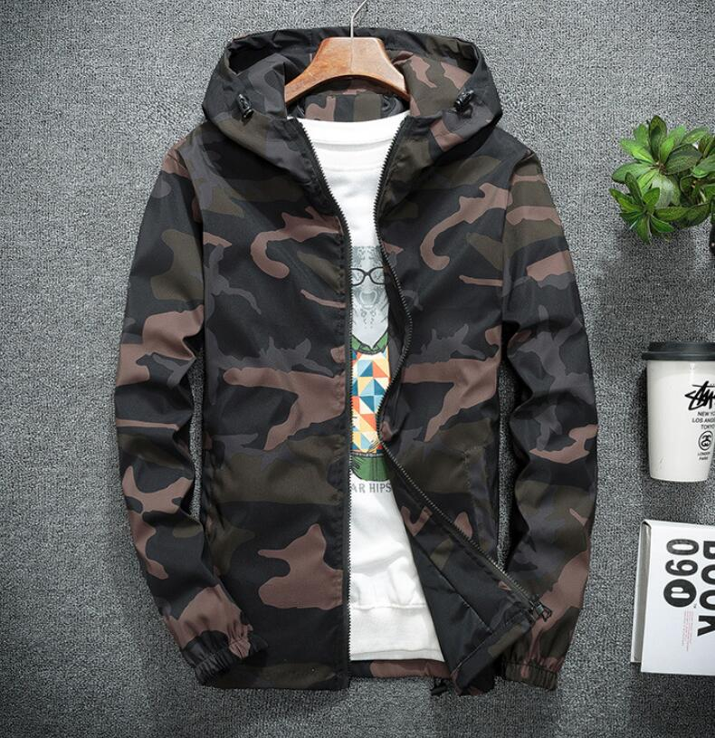 Fashion brand Mens boy hooded camouflage jackets army green scholastic lovers class uniform outerwear Large size 5XL