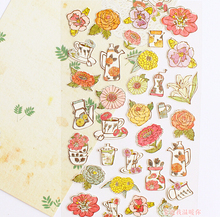 Fresh Style Various Flowers Decorative Stickers Mobile Phone Stickers Stationery DIY Album Stickers