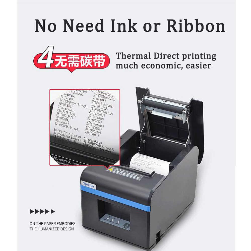 Xprinter 80mm Recibos térmica impressora Bluetooth/Porta USB POS Impressora com Cortador Automático Para Anroid Móvel iOS telefone