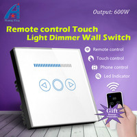 UK Standard New Arrival Dimmer Touch Switch With Wireless Remote Control Light Dimming Switch Crystal Glass