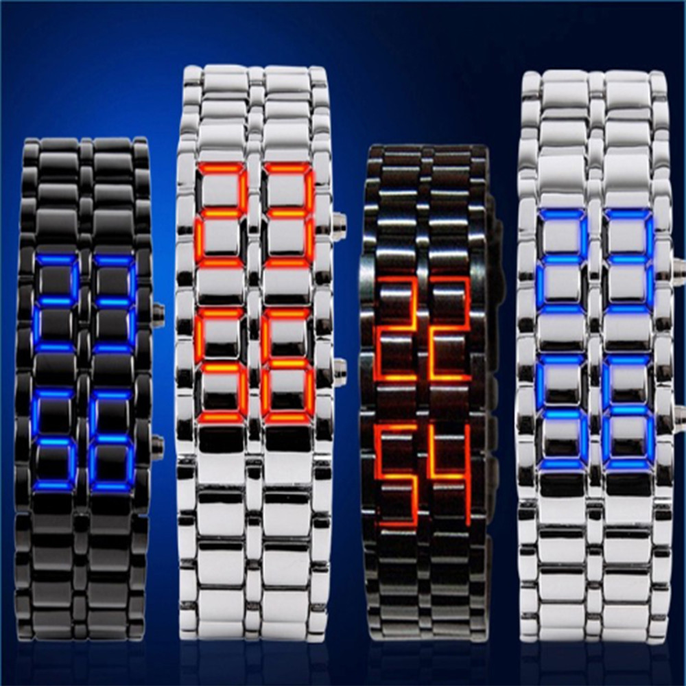 Skmei LED movement 30M waterproof Watch Fashion Time Strip