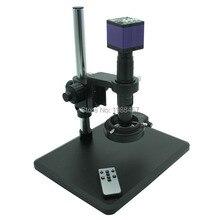 Industria de Inspección de Vídeo HDMI HD Digital USB Microscopio Cámara de Control Remoto + Soporte + Lente de Montura C de Ajuste Fino + luz LED